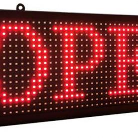 Panou Led de Exterior Programabil/Reclama Luminoasa 167x40 ROSU