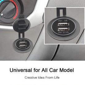 Priza incarcator USB auto dual port 5V 1A si 2.1A