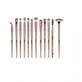 Set 12 pensule Machiaj Cosmetic Make-up Profesional, Nude