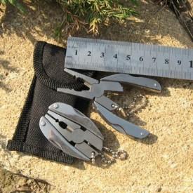 Breloc multifunctional Pro Steel - Patent, Pila, Cutit, Surubelnita