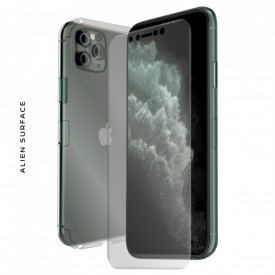 FOLIE ALIEN SURFACE HD, Apple iPhone 11 PRO MAX, PROTECTIE FATA,SPATE,LATERALE + ALIEN FIBER CADOU