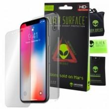 FOLIE ALIEN SURFACE HD, iPhone X, PROTECTIE ECRAN, SPATE, LATERALE + ALIEN FIBER CADOU