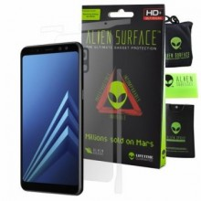 FOLIE ALIEN SURFACE HD, SAMSUNG GALAXY A8, SPATE, LATERALE + ALIEN FIBER CADOU