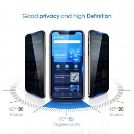 Folie de sticla 5D Apple iPhone 11, Privacy Glass Elegance Luxury, folie securizata duritate 9H