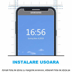Folie de sticla case friendly pentru Samsung Galaxy J3 2017, Elegance Luxury transparenta