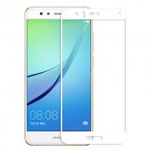 Folie de sticla Huawei P10 Lite, Elegance Luxury cu margini colorate White