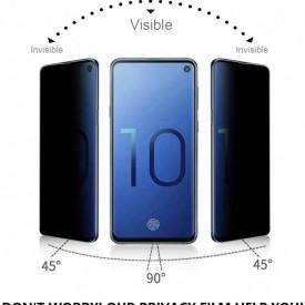 Folie de sticla Samsung Galaxy S10, Privacy Glass, folie securizata duritate 9H