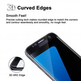 Folie de sticla Samsung Galaxy S7 Edge, Elegance Luxury margini curbate colorate Black