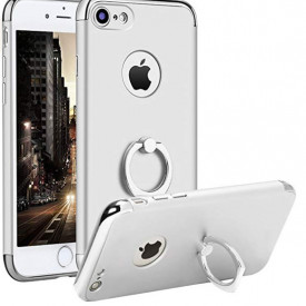 Husa Apple iPhone 8, Elegance Luxury 3in1 Ring Argintiu