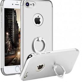 Husa Apple iPhone 8, Elegance Luxury 3in1 Ring Argintiu