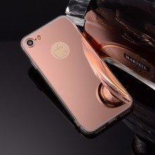Husa Apple iPhone 8, Elegance Luxury tip oglinda Rose-Gold