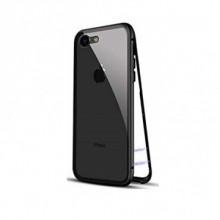 Husa Apple iPhone 8, Magnetica Negru, MyStyle Perfect Fit cu spate de sticla securizata premium
