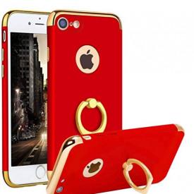 Husa Apple iPhone SE2, Elegance Luxury 3in1 Ring Rosu