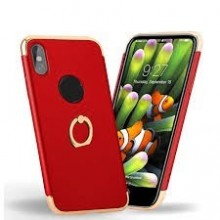 Husa Apple iPhone X, Elegance Luxury 3in1 Ring Red