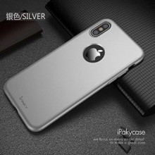 Husa Apple iPhone X, FullBody Elegance Luxury iPaky Silver, acoperire completa 360 grade cu folie de sticla gratis