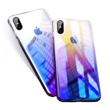 Husa Apple iPhone XS , MyStyle Gradient Color Cameleon Albastru-Galben
