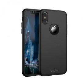 Husa de protectie pentru Apple iPhone XS MAX, iPaky Pro Negru Original Case, acoperire completa 360 grade cu folie de protectie gratis