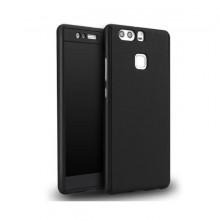 Husa Huawei P9 Lite 2016, FullBody Elegance Luxury Black, acoperire completa 360 grade cu folie de sticla gratis