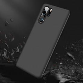 Husa MyStyle FullBody Negru pentru Huawei P30 cu folie de sticla inclusa