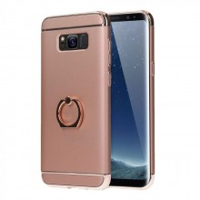Husa Samsung Galaxy J3 2017, Elegance Luxury 3in1 Ring Rose-Gold