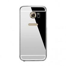Pachet Husa Elegance Luxury pentru Samsung Galasy S6 Egde Plus TIP OGLINDA ARGINTIE cu folie de protectie gratis !