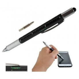 Pix 6 in1 Multifunctional Rigla, 2 Surubelnite, Touchscreen Pen, Nivela cu Bula