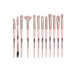 Set 12 pensule Machiaj Cosmetic Make-up Profesional, Rose