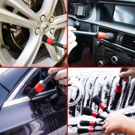 Set 5 perii profesionale pentru curatat interior si exterior auto, elemente de caroserie, bord, jante, detailing auto