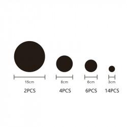 Set Oglinzi Design 3D ROUND BLACK - Oglinzi Decorative Acrilice Luxury Home 26 buc/set