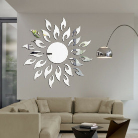 Set Oglinzi Design 3D SILVER SUN MyStyle® - Oglinzi Decorative Acrilice Luxury Home 27 buc/set