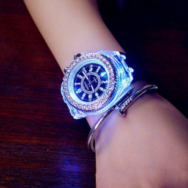 Ceas Activ LED, Jocuri de lumina 7 culori
