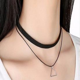 Choker Mystyle Fashion Black pyramid - Colier elegant pentru gat