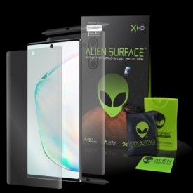 Folie Alien Surface HD, Samsung GALAXY NOTE 10 fata, spate, laterale + Alien Fiber Cadou