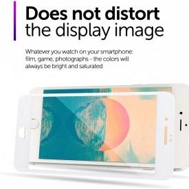 Folie de sticla 5D Apple iPhone SE2, margini colorate Alb