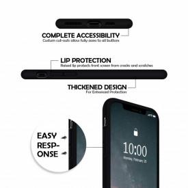 Husa Apple iPhone 11 PRO MAX, Elegance Luxury, Silicon TPU Slim Antisoc NEGRU