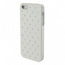 Husa Apple iPhone 5/5S/SE, Elegance Luxury cu diamante pe spate Argintiu