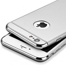 Husa Apple iPhone 6/6S, Elegance Luxury 3in1 Silver