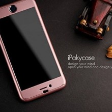 Husa Apple iPhone 6/6S, FullBody iPaky Rose-Gold , acoperire completa 360 grade cu folie de sticla gratis