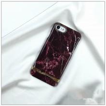 Husa Apple iPhone 6/6S, MyStyle Marble Red TPU, husa cu insertii marmura rosie-aurie