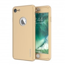 Husa Apple iPhone 6 Plus/6S Plus, FullBody Elegance Luxury Gold, acoperire completa 360 grade cu folie de sticla gratis