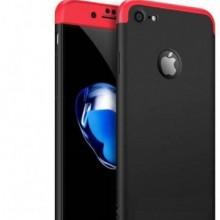 Husa Apple iPhone 7 Plus, FullBody 360° 3in1 Negru-Rosu