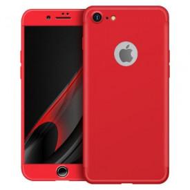 Husa Apple iPhone 7 Plus, FullBody Elegance Luxury Red, acoperire completa 360 grade cu folie de sticla gratis