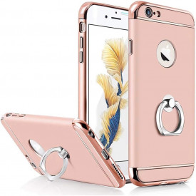 Husa Apple iPhone 8 Plus, Elegance Luxury 3in1 Ring Rose-Gold