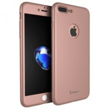 Husa Apple iPhone 8 Plus, FullBody Elegance Luxury iPaky Rose-Gold , acoperire completa 360 grade cu folie de sticla gratis