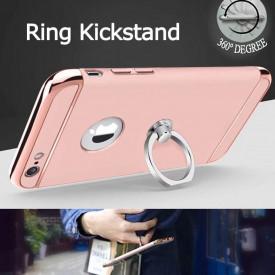 Husa Apple iPhone SE2, Elegance Luxury 3in1 Ring Rose-Gold