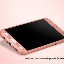 Husa FullBody Elegance Luxury Rose-Gold pentru Samsung Galaxy J3 2016 acoperire 360 grade cu folie de protectie GRATIS !