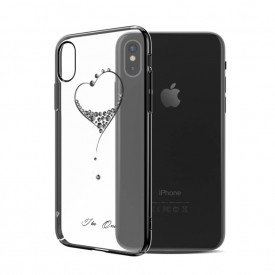Husa Kingxbar pentru Apple iPhone X design Cristale Swarovski - Black