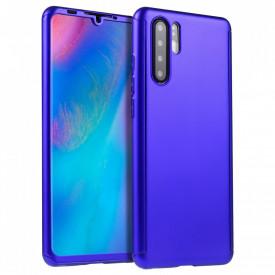 Husa MyStyle FullBody Albastru pentru Huawei P30 PRO cu folie de sticla inclusa