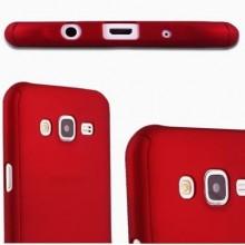Husa Samsung Galaxy J3 2017, FullBody Elegance Luxury Red, acoperire completa 360 grade cu folie de sticla gratis
