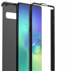 Husa Samsung Galaxy S10, FullBody Elegance Luxury Negru, acoperire completa 360 grade cu folie de protectie gratis